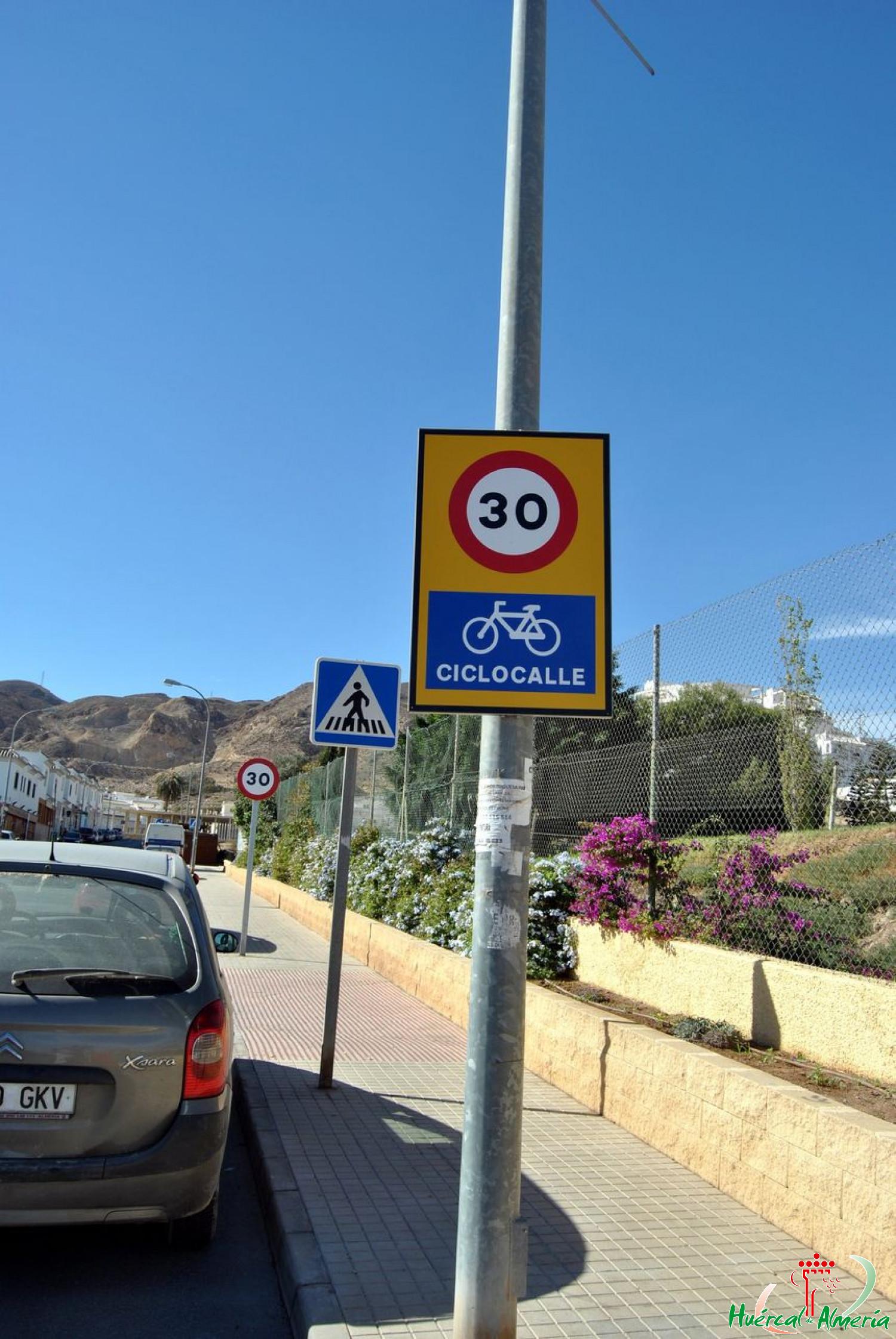 Red de ciclo-calles de Huércal de Almería